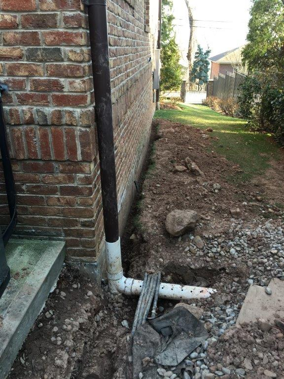 Sprinkler and french drain work