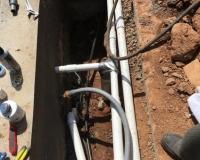 Light conduit and plumbing in progress