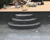 pool step tiles completed