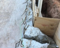preparing walls for new cocnrete