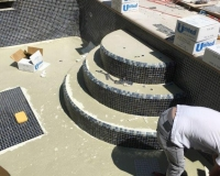 steps tiling in progress