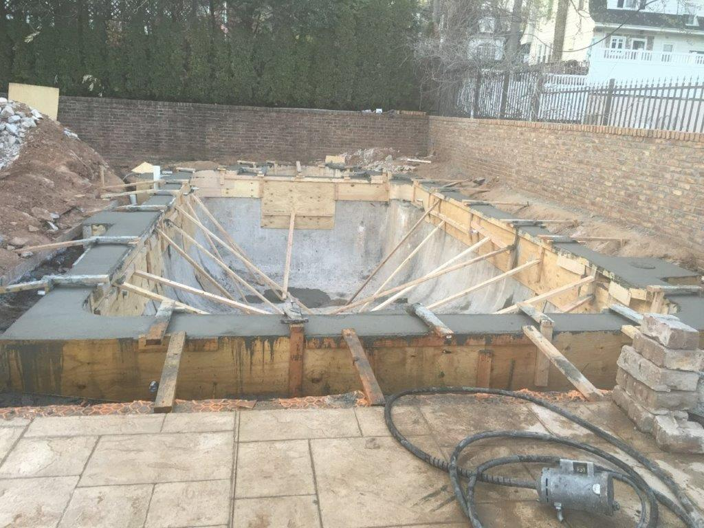 concrete poured walls extended