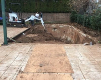 Pool Half digged oout and manully removed soil