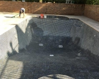 Pool Tile installed