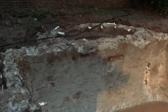 Condition of the walls after digging out