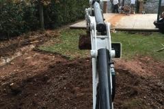Excavating pool started