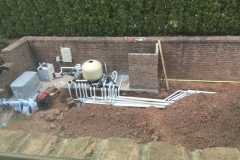 Pool equipment in progress to be set up